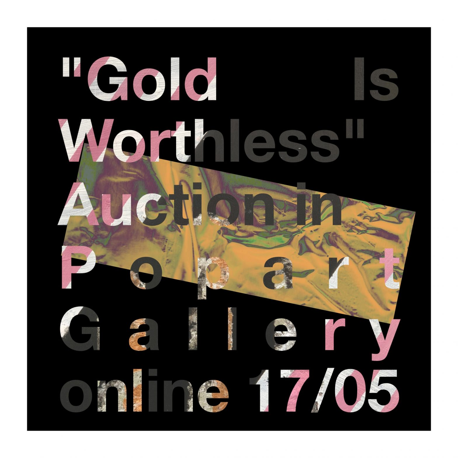 gold is worthless painting auction in Popart Gallery, Bernard Pietraga